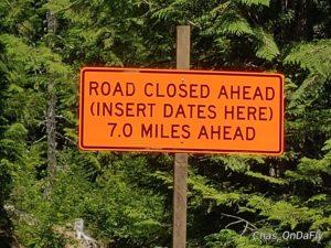 Trillium Lake road